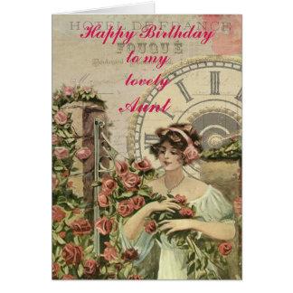 Vintage Rose Gatherer Card