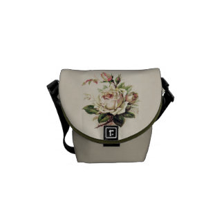 Vintage Rose Graphic Courier Bag