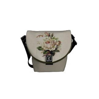 Vintage Rose Graphic Messenger Bag