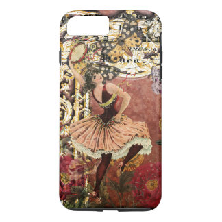 Vintage Rose Gypsy Dancer French Collage iPhone 8 Plus/7 Plus Case