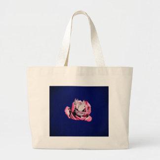 Vintage Rose Hands Nails Grunge Large Tote Bag