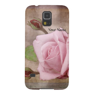 Vintage Rose in Pink Galaxy S5 Covers