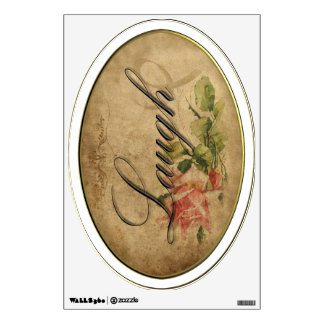 Vintage Rose Inspiration Wall Decal