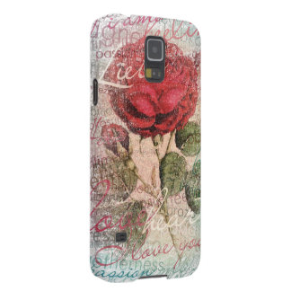 Vintage Rose Love you Galaxy S5 Case