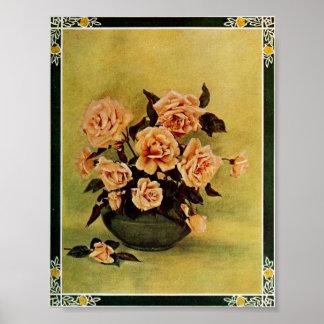Vintage Rose of Old Castile by  Frederick Martin Poster
