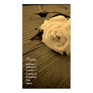 Vintage Rose Sepia Business/Profile Card Business Card Template
