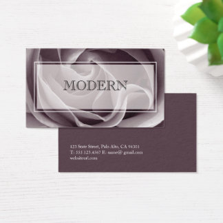 Vintage Rose Sepia Photo Business Card