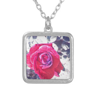 Vintage Rose Silver Plated Necklace