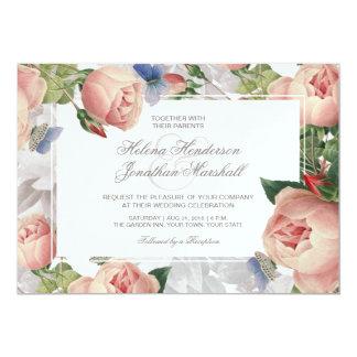 Vintage Rose Spring Wedding Elegant Floral Card