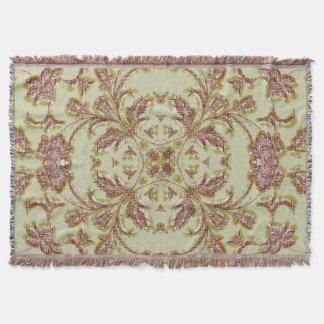 Vintage Rose stitching Pattern Throw Blanket