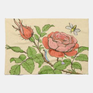 Vintage Rose tea-towel Kitchen Towel
