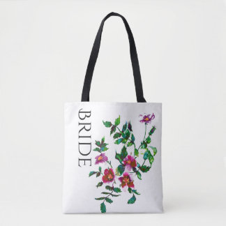 Vintage Rose tote for the Bride