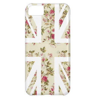Vintage Rose Union Jack British(UK) Flag iPhone 5C Case