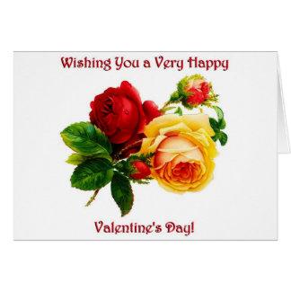 Vintage Rose Valentine Card