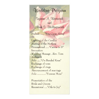 Vintage Rose Wedding Programs