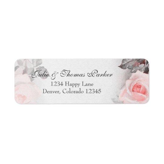 Vintage Rose Wedding Return Address Label