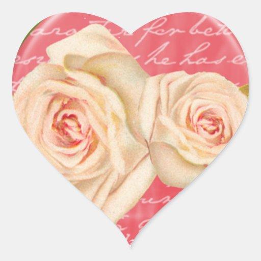 Vintage Rose Wedding Seal Sticker
