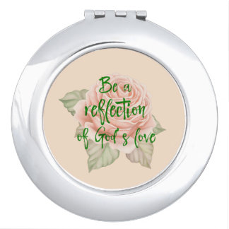 Vintage Rose with Faith Quote Mirrors For Makeup