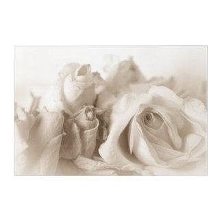 Vintage roses acrylic wall art