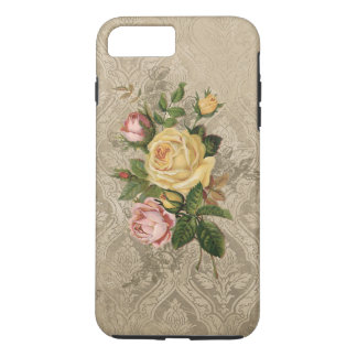 Vintage Roses and Gold Damask iPhone 8 Plus/7 Plus Case