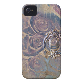 vintage roses and keyhole blackberry case