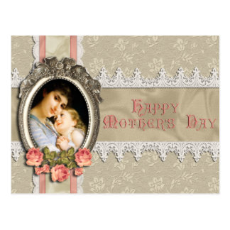 Vintage Roses and Lace Mother's Day Postcard