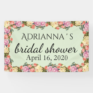 Vintage Roses Bridal Shower Beautiful Banner