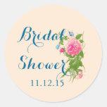 Vintage Roses | Butterfly Bridal Shower Sticker