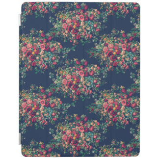 Vintage Roses Classic Blue Color Rich Damask iPad Cover
