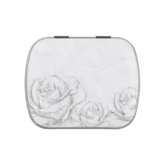 Vintage Roses Floral Grey Decorative