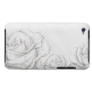 Vintage Roses Floral Grey Decorative Barely There iPod Case