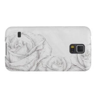 Vintage Roses Floral Grey Decorative Cases For Galaxy S5