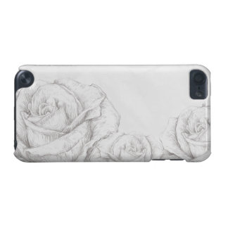 Vintage Roses Floral Grey Decorative iPod Touch (5th Generation) Cases