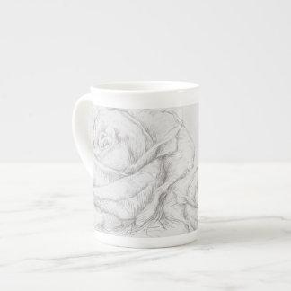 Vintage Roses Floral Grey Decorative Tea Cup