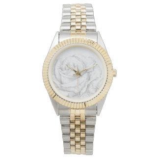 Vintage Roses Floral Grey Decorative Watches