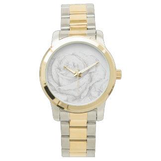 Vintage Roses Floral Grey Decorative Wristwatch