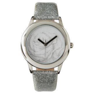 Vintage Roses Floral Grey Decorative Wristwatches
