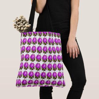 Vintage-Roses-Floral-Spring-Violet-Rose-Tote-Bag Tote Bag