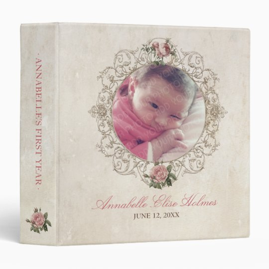 Vintage Roses French Antique Baby Photo binder