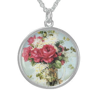 Vintage Roses Fresh from the Garden Sterling Silver Necklace