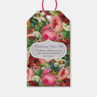 Vintage Roses Gift Tags Personalized EDIT TEXT