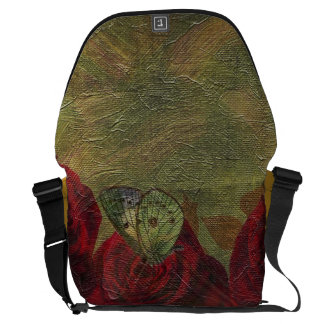 Vintage Roses Green Oil Painting Commuter Bags