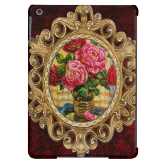 Vintage Roses In A Vase Cover For iPad Air