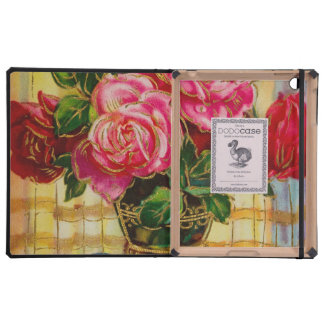 Vintage Roses In A Vase iPad Cover