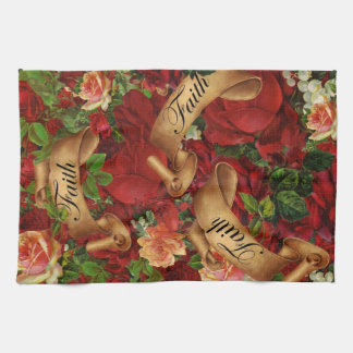 Vintage Roses of Faith Kitchen Towel