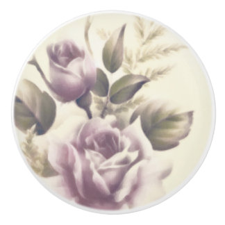 Vintage Roses Old Glamour Custom Chic Elegant Ceramic Knob