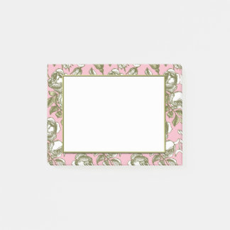 Vintage Roses on Light Pink Floral Stickies Post-it Notes