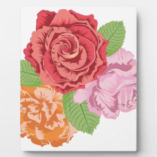 Vintage Roses Ornament3 Plaque