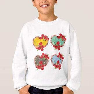 Vintage Roses Ornament and Heart4 Sweatshirt