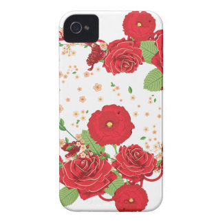 Vintage Roses Ornament and Heart 3 iPhone 4 Case-Mate Cases